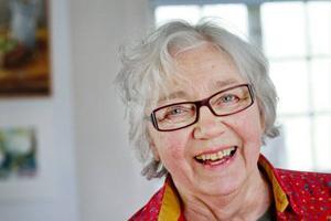 Ann Charlotte Hartman fick en utställning på Ahlbergshallen i 80-årspresent av Åre konstförening.