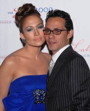 Makarna Jennifer Lopez och Marc Anthony vill inte vara med  i barnvagnsreklam. Foto: Scanpix