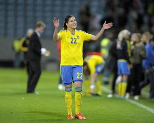 Olivia Schouhg, 24 år, spelar i dag i Eskilstuna. Hon är född och uppvuxen i Halland.