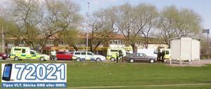 Trafikolycka på Bäckby på torsdagseftermiddagen. FOTO: LÄSARBILD
