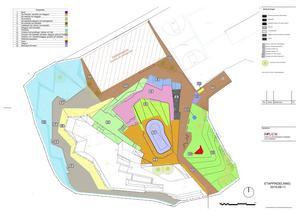 Total finns 16 möjliga etapper i ritningarna till Hyttgårdsparken. Nu byggs 1,2 och 3.
