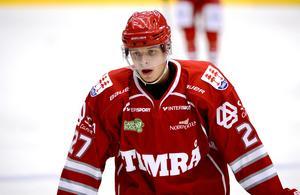 Jimmie Jansson under sin tid i Timrå. Där han, som han säger själv, inte alls hade det spelet i egen zon han har nu.
