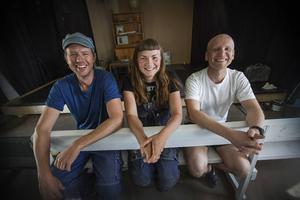 Jon Karlsson, Sara May Kahl och Mattias Åhlén.