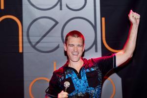 Bäst. New York-komikern Clayton Fletcher visade hur bra stand up comedy kan vara.Foto: Margareta Andersson
