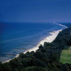 Vita långa stränder längs den polska kusten.