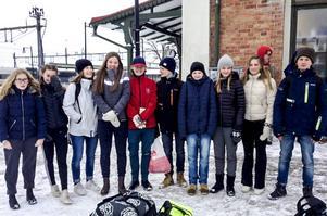 Från vänster: Hanna Elfström, Ika Johansson, Klara Enerud, Moa Jern, Jesper Lind, William Thor, Olof Persson, Moa Jern, Lina Arousell och Viktor Thor.