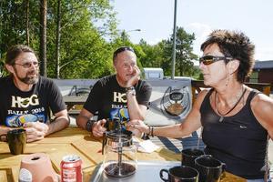 Per Hörnell, Ulf Arnesson och Ulla Nordin har jobbat många timmar för att ro i land helgens HD-träff i Åre.