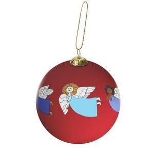 Änglavakt. I Unicefs webbaffär finns den här handmålade julkulan i design av Johanna och Lisa Larson. Av 169 kr går 146 kr till Unicef. Foto: Unicef