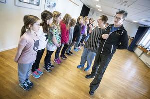 Förväntansfulla barn fick agera under helgens audition till