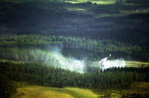 Brand. Brandflyget upptäcker skogsbränder i ett tidigt skede. Därmed kan samhällets kostnader för brandbekämpning reduceras kraftigt.