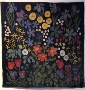 Anna Hådell är utställningens grand old lady. De verk hon visar är skapade efter att hon blev pensionär på 70-talet.