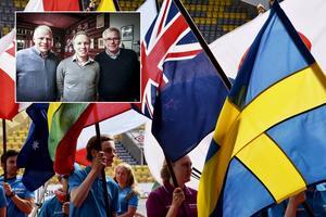 Från vänster: Janne Andersson, O-ringens VD Henrik Boström och Lars Sahlén, ordförande i Jämtland/Härjedalen orienteringsförbund. Beskedet kom på onsdagsmorgonen: