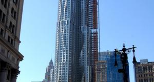 En av världens häftigaste skyskrapor ligger på Eight Spruce Street, i USA.