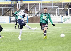 Mot Varberg i Svenska cupen gjorde Tshutshu Tshakasua sitt första a-lagsmål i GIF-tröjan.