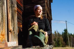 Eva-My Persson hemma i Hälsingland hösten 2017.
