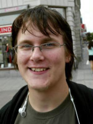 Per Andersson, 17 år, Stöde—Det är roligt, för jag börjar på ett kul program, estetlinjen med bildinriktning.