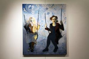 Flyga falla oljemålning skapad av Torun Eliasson.
