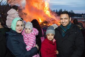 Aussama Issa, Sundus Hussien med barnen Lena Issa, fem år, och Mine issa, 9 månader.