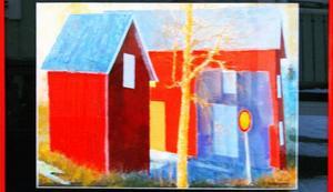Färgstarkt måleri av Paul Rengmyr på Eken