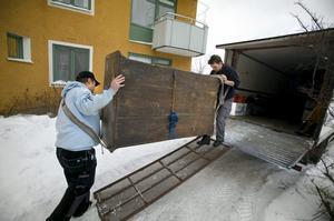 0043. Flytt i kylan från Stjärnhusen för Örebro dragarlag.