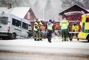 En person skadades i olyckan i Persbo utanför Ludvika.
