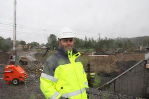 Magnus Gilljam är Trafikverkets projektledare vid Kilafors bangård.