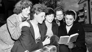 Bilden togs när vlt gjorde ett reportage om tonåringar 1953.