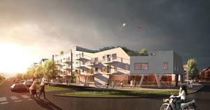 Takodlingar och lägre hus i söder bidrog till att Prenova vann tävlingen om vem som ska få bygga i kvarteret Runstenen.
