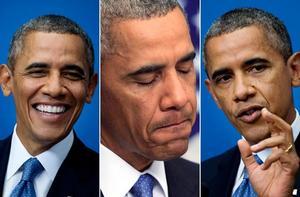 Barack Obama vid presskonferensen i regeringskansliet Rosenbad.