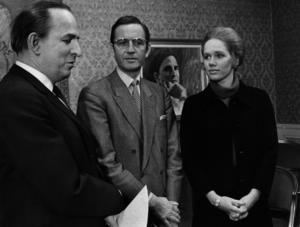 Ingmar Bergman, Kenne Fant och Liv Ullmann, fotograferade 1972.