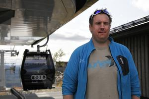 Erik Roark är lifttekniker på Funäs Gondolen. Han tipsade om den fantastiska utstikten på högsta punkten av Funäsdalsberget.