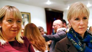 Socialdemokraterna Anna Bohman Enmalm och Margot Wallström.