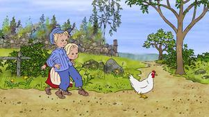 Emil och Ida på äventyr med hönan Halta Lotta, en av höjdpunkterna i nya tecknade