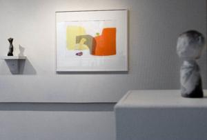 På Galleri S ställer Annika Persson ut sin konst.  Foto: Ulrika Andersson