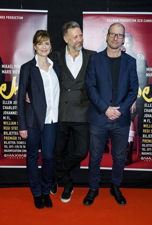 Marie Richardson, Mikael Persbrandt och regissören Stefan Larsson träffade pressen för att berätta om uppsättningen av