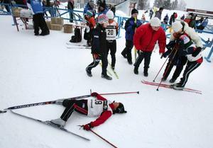 Linnea Wikberg, Utrikes, var helt utpumpad efter att ha speedat sig runt den tuffa banan i Lilla Östersundsspelen. Linnea blev femma  i flickor 9.