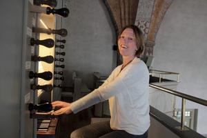 Kantor Anneli Aspengren Sköld är en av organisatörerna av orgelfestivalen i Ljusdals kyrka. ARKIVBILD