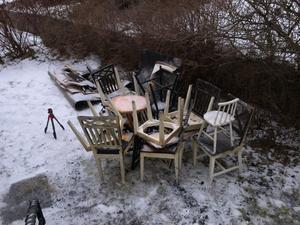Många av familjens ägodelar har förstörts.