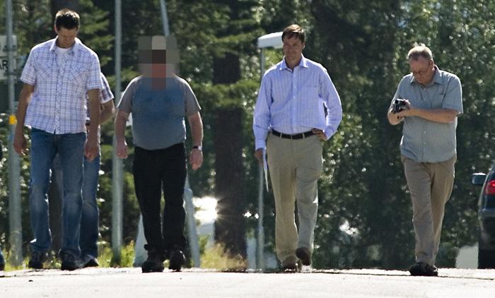 Berusad segway forare korde over polis