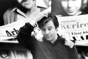 Journalisten och debattören. Jan Guillou på besök i Gävle 1981.