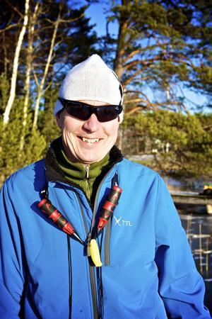 Anders Johansson bor på Rånäsberget och tar gärna en skridskotur på Barkens is när tillfälle ges.