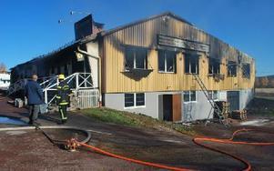 IT-Komponenters lokaler totalfördes i branden som utbröt i lördags kväll. Foto: Annki Hällberg/DT