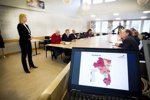 Lotta Pettersson, regionchef för Svenskt näringsliv, presenterade årets resultat under måndagsmorgonen.