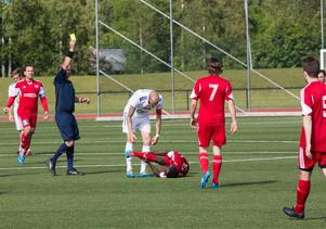 HFF–anfallaren Robin Bergman slog till vid fyra tillfällen i mötet mot Söderhamn i division 2 Norrland. Han gjorde samtliga mål när de vann med 4-1 på Högslätten IP.