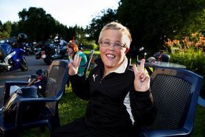 Filip Wennberg, 11 år, från Bromma har vart på läger på Alnö flera år i rad.