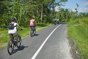 Från cykelsadeln får man direktkontakt med Balis fascinerande landskap.