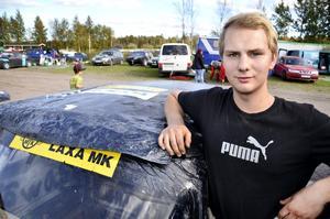Henrik Edberger från Laxå MK kör sitt första år som senior. Han vann de tre första deltävlingarna och gick till final under lördagens Venacup.