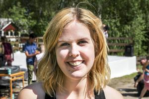 Matilda Norling Persson var lätt stressad på lördagen.