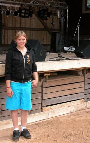 Arrangör. Britta Wåhlstedt är huvudarrangör av Daflo bravefest som pågår i Dala-Floda tills på lördag. Foto:Maja Berg