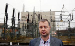 Bertil Carlsson ser helst att biogasanläggningen hamnar där ställverket idag ligger. Det ger en bra logistik där hela hanteringen med brännbart avfall och matavfall ligger kloss i kloss.